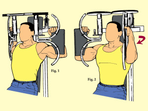 Inner Pec Press on Inner Pec Machine