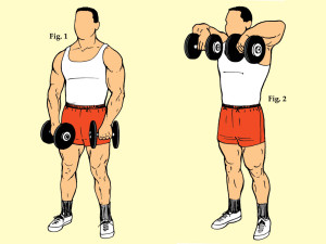 Standing Dumbbell Upright Rowing