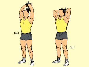 Standing Dumbbell Triceps Curl
