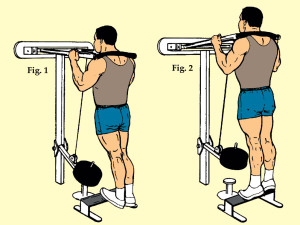 Standing Toe Raise on Wall Calf Machine
