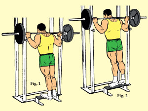 Standing Toe Raise on Power Rack