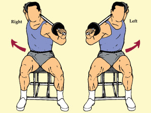 Seated Barbell Twist
