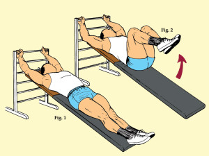 Incline Leg Pull-In