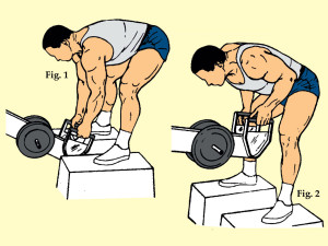 Bent Over Two Arm Long Bar Rowing