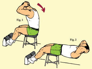 Over a Bench Sit-Up